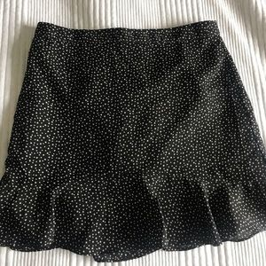 J CREW black skirt with white stars.